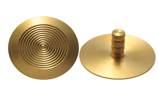 Ridge Brass Tactile Studs