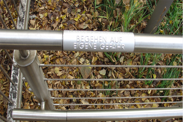 Alu Handrail Braille Signs